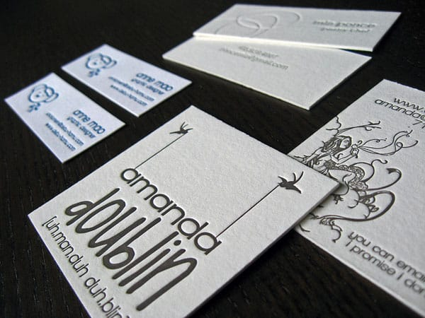 Square Letterpress Business Cards 50+ Brilliant Square Business Cards