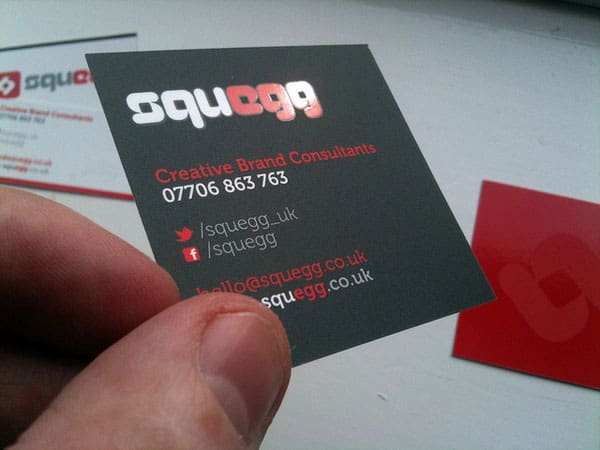 Squegg Generic 50+ Brilliant Square Business Cards