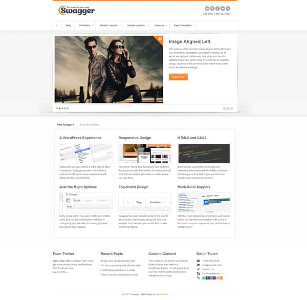 Swagger 50 Free and Premium Responsive WordPress Themes