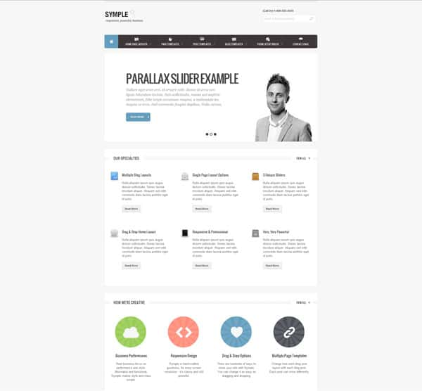 Symple Blank 50 Free and Premium Responsive WordPress Themes