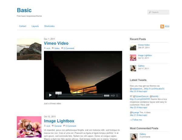 Themify Basic 50 Free and Premium Responsive WordPress Themes
