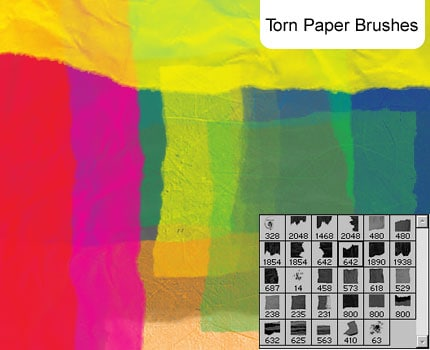 Torn Paper brushes 20 Old and Free Paper Brushes