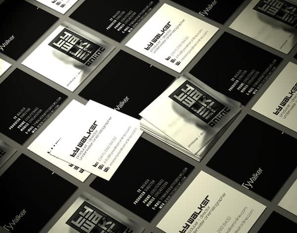 Ty Walker Online 50+ Brilliant Square Business Cards