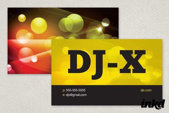 Vibrant DJ Business Card by inkddesign 50+ Dj Music Business Cards & Designs