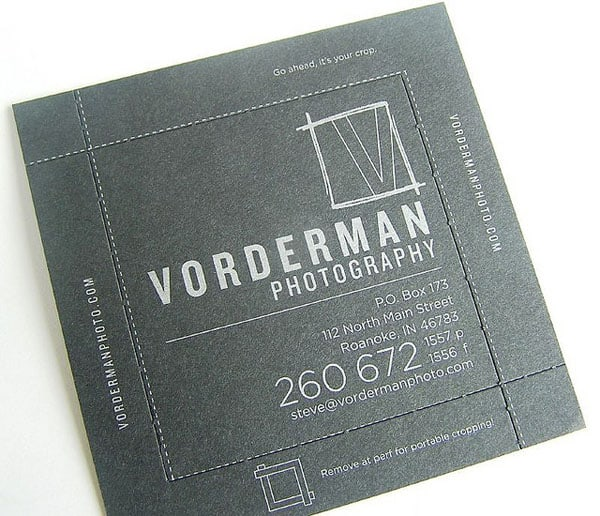 Vorderman Photography 50+ Brilliant Square Business Cards