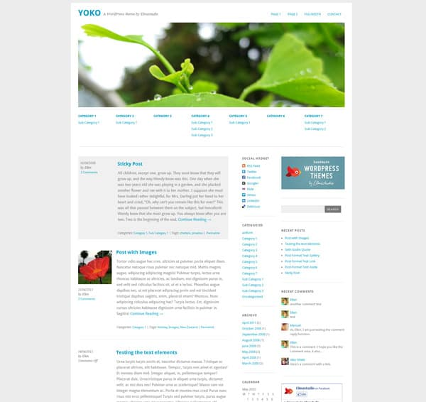 Yoko 50 Free and Premium Responsive WordPress Themes