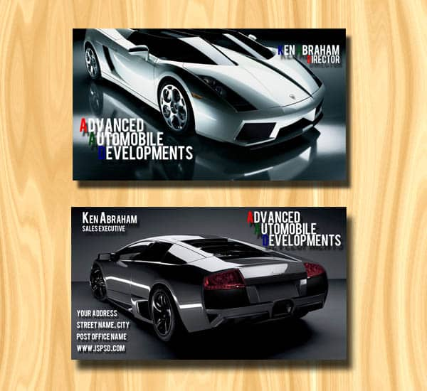 automobile business cards 20+ Impressive High quality Business cards