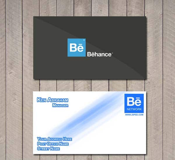 behance 10+ Social Media Business Cards