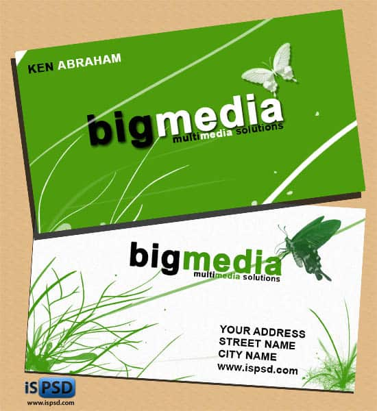 bigmedia PSD Freebies : A collection of 40+ White Colored Business Cards