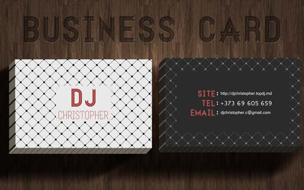 business card dj christopher by persem d4ti0xn 50+ Dj Music Business Cards & Designs