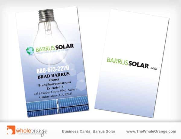business cards   barrus solar 25 Impressive and Simple Business Card Designs