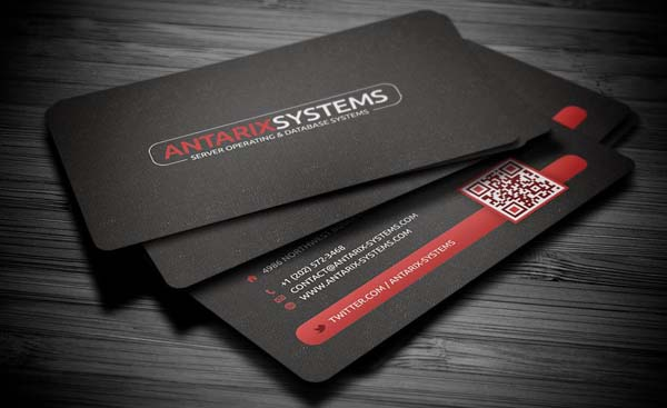 business cards black 25 Impressive and Simple Business Card Designs
