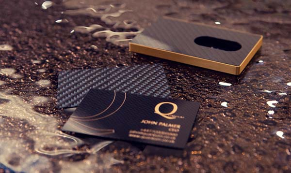 carbon fiber business card 3 60+ Embossed Business Cards for Inspiration