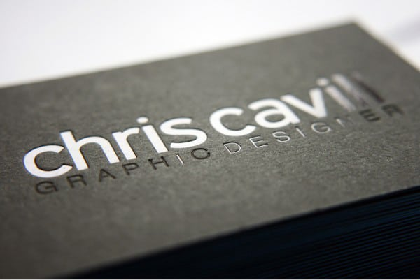 60 embossed business cards for inspiration chris cavill design colourmoves