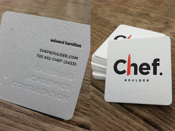 chef 50+ Brilliant Square Business Cards