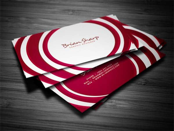 circle business card 25 Impressive and Simple Business Card Designs