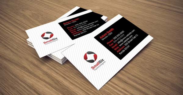 clean business card 25 Impressive and Simple Business Card Designs