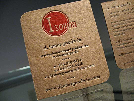 d james goodwin stereophonic record production 60+ Embossed Business Cards for Inspiration
