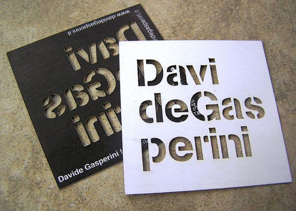 davide gasperini 50+ Brilliant Square Business Cards