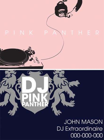 dj business cards pink 50+ Dj Music Business Cards & Designs