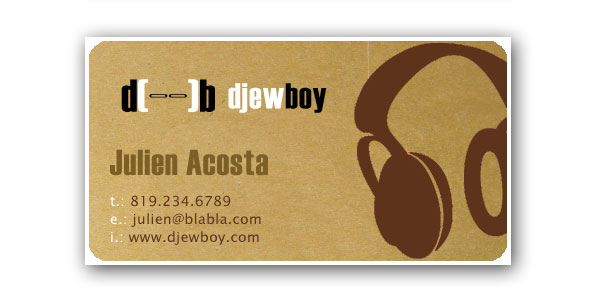 dj card 50+ Dj Music Business Cards & Designs