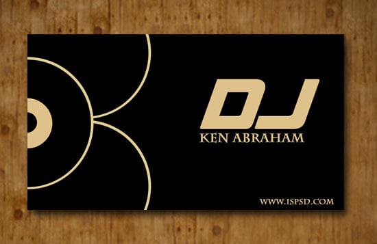 Free Darkish Black Business Card Templates - Dj business card template