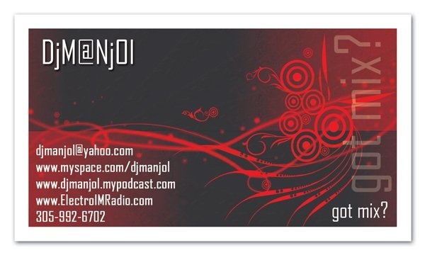dj manjol 3 by aarana9 50+ Dj Music Business Cards & Designs