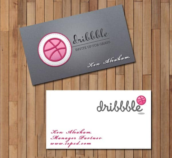 dribbbler card 10+ Social Media Business Cards