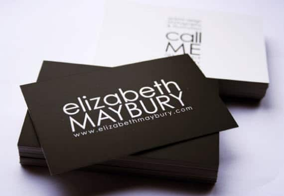elizabethminimalbusinesscards 25 Impressive and Simple Business Card Designs