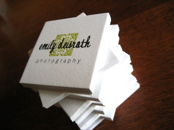emily deisiath 600x450 60+ Embossed Business Cards for Inspiration