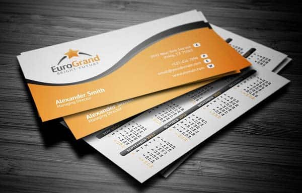 euro grand 25 Impressive and Simple Business Card Designs