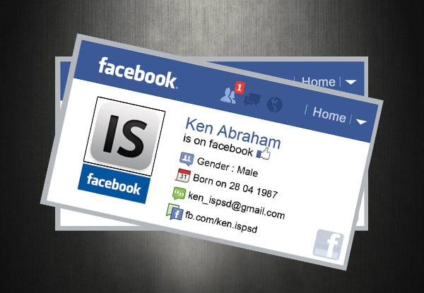 facebook 10+ Social Media Business Cards