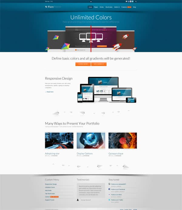flare 50 Free and Premium Responsive WordPress Themes