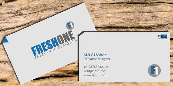 freshone PSD Freebies : A collection of 40+ White Colored Business Cards