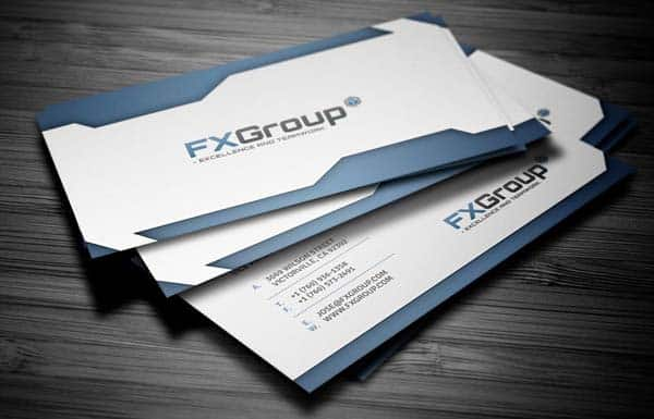 fx group 25 Impressive and Simple Business Card Designs