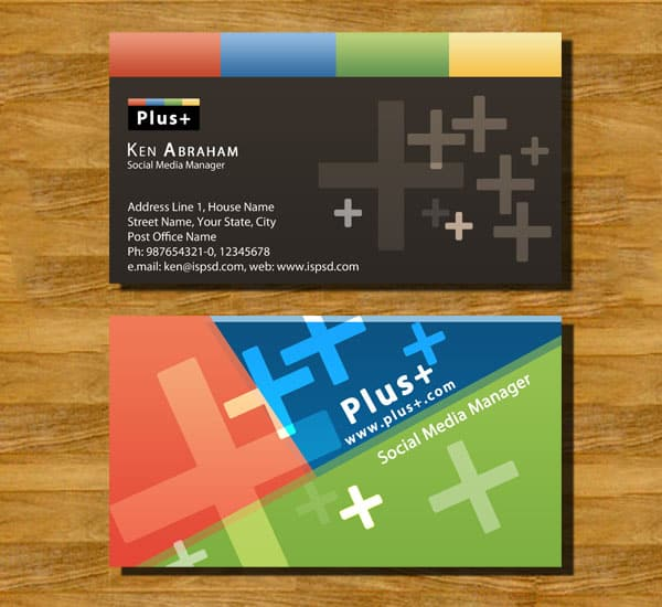 googleplus 10+ Social Media Business Cards