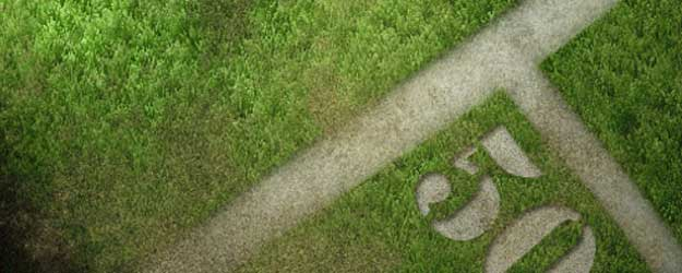 grass 25+ Awesome 3D Text Effects Photoshop Tutorials
