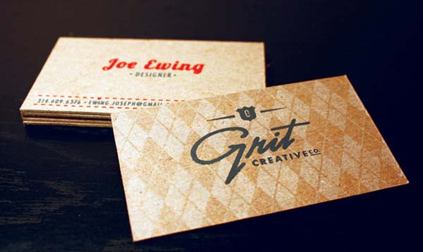grit creative business card 60+ Embossed Business Cards for Inspiration