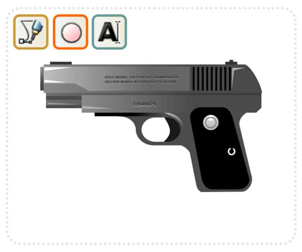 handgun 40 Simple Adobe Illustrator Tutorials