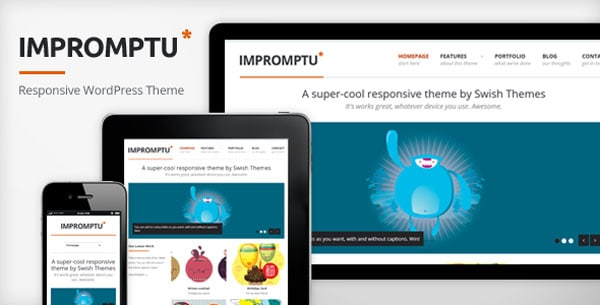 impromptu 50 Free and Premium Responsive WordPress Themes