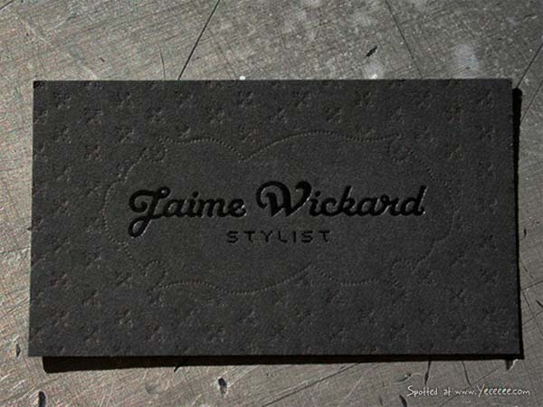 jaime wickard 60+ Embossed Business Cards for Inspiration