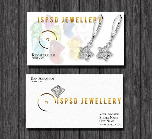 jewellery1 PSD Freebies : A collection of 40+ White Colored Business Cards