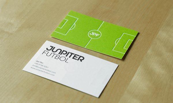 junpiter futbol business card 20+ Impressive High quality Business cards