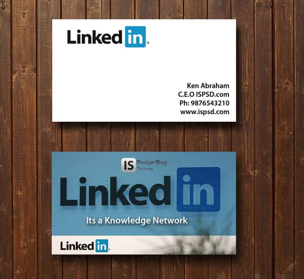 LinkedIn business card