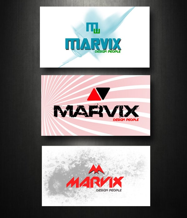 marvix PSD Freebies : A collection of 40+ White Colored Business Cards