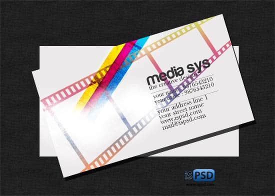 media sys PSD Freebies : A collection of 40+ White Colored Business Cards