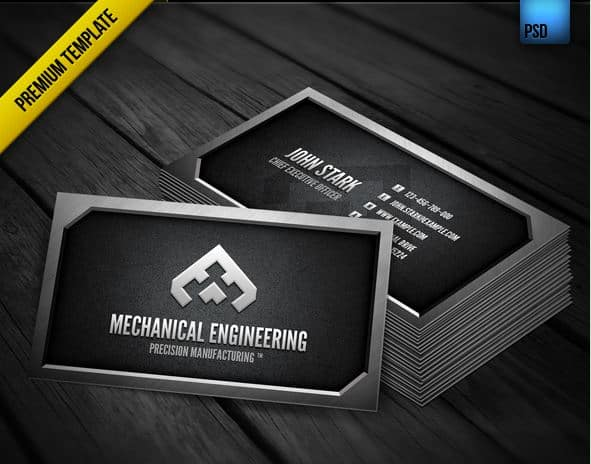25 superb metal business cards inspiration mechanical engineer accmission Images