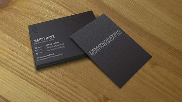 minimalist embossed business 4 by lemongraphic d3ex13g 60+ Embossed Business Cards for Inspiration