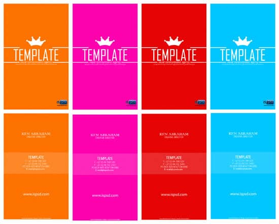 multi color template 15+ Business Card Templates with Multi Color Background