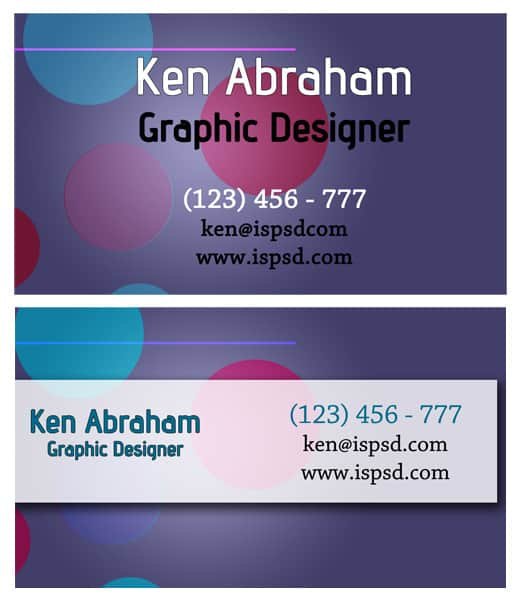 multi color 15+ Business Card Templates with Multi Color Background